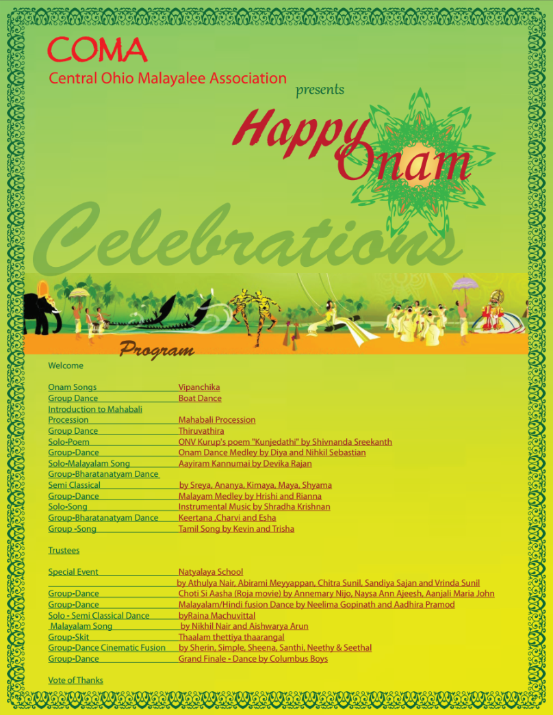 Onam Green Flyer